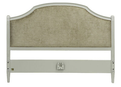 Abella Elegance French Upholstered Headboard (Grey, Taupe Or Antique White)