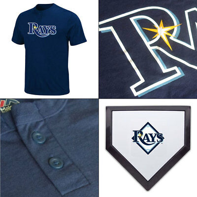 Tampa Bay Rays Officially Licenced 2 Button MLB T shirt + Free Coaster