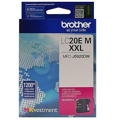 Brother LC20EM INKvestment 1200 Page Super High-Yield Magenta Ink Cartridge