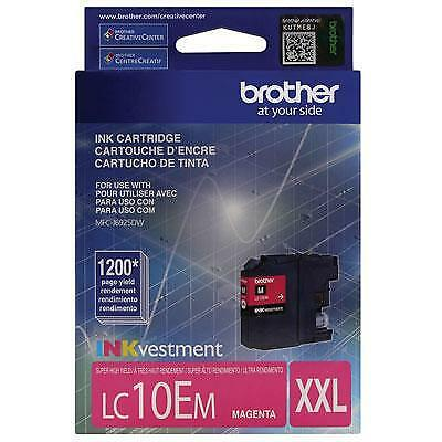 Brother LC10EM INKvestment 1200 Page Super High-Yield Magenta Ink Cartridge