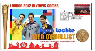 Ryan Lochte 2012 London Olympic Swimming Gold Cover 2