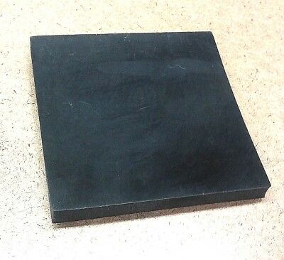 "Neoprene Rubber Sheet 3/16"" Thk x 8"" x 8"" Square Pad 60 Duro Std Flex"
