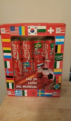 Vintage 1994 Usa World Cup 24 Coca Cola Can Set With All Participating Countries