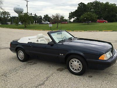 1988 Ford Mustang Blue with White Interior 1988 Ford Mustang LX Convertable