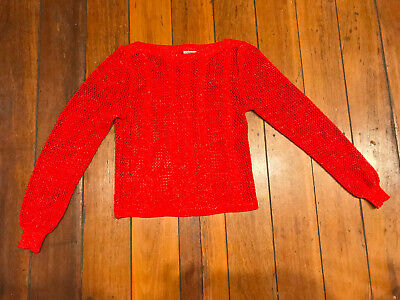 Katies Vintage 80s Red & Gold Sweater