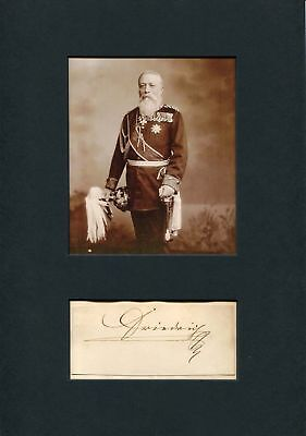 Frederick I Grand Duke of Baden autograph, signed clipping mounted