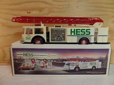1989 Hess Toy Truck Gas Oil Advertising Fire Ladder Department Truck