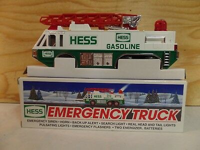 1996 Hess Toy Truck Gas Oil Advertising Emergency Truck Unit