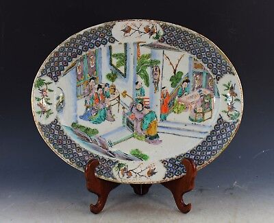 Antique Chinese Hand Painted Porcelain Platter