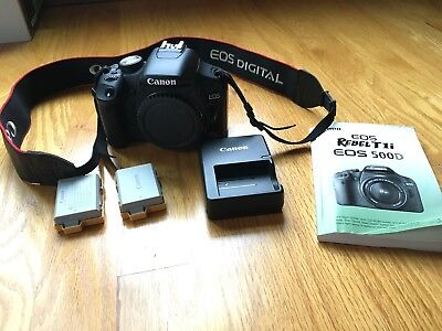 Canon Rebel EOS T1i w/ 2 batteries, charger, & manual