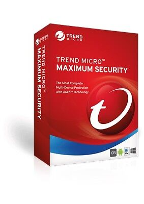 Trend Micro Maximum Security 2018 3 Devices 5 Years - Electronic Download