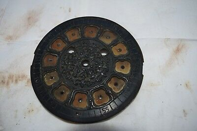 antique  french clock dial part