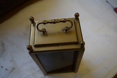 old carriage clock brass case