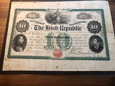 1866 $10 Dollars Irish Republic