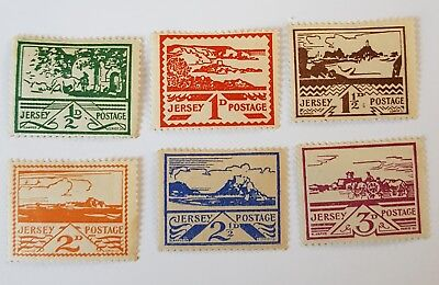 gb stamps 1943 regional issue Jersey set of 6  no 3/6   L /h /mint