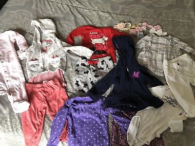 Carters Baby Girl Clothes Mixed Bundle Lot Size 6-9-12 Months