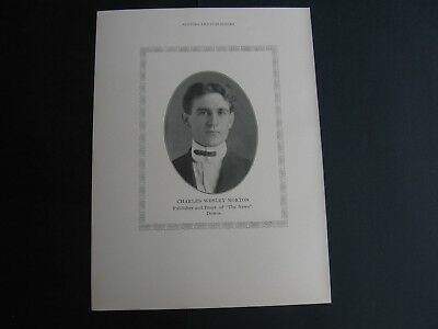 Charles Wesley Norton , Publisher of The News , Downs Kansas
