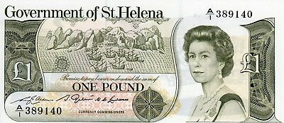£1 Government of St. Helena Pick: 6A issued in 1976 Prefix: A/1 UNC