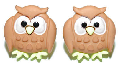 Wise Old Owl Stud or Clip On Earrings (S504)