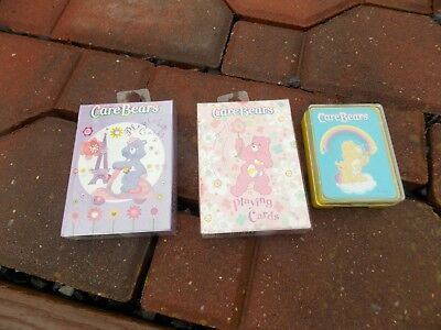 Care Bears Bear Playing Cards Set of 3 NEVER USED