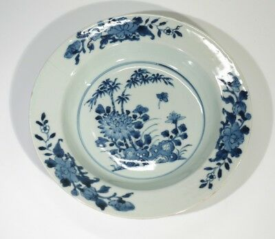 Antique Chinese Blue & White Porcelain Plate.