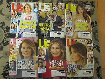 US Magazine lot, 6 back issues on Trump family, good condition, a must have!!