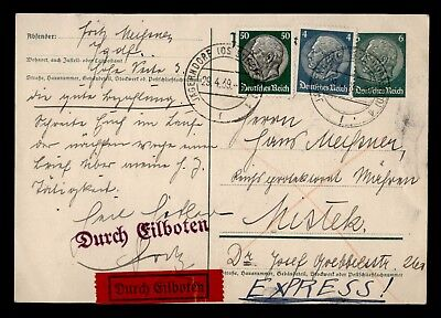 Dr Who 1939 Germany Postal Card Multi Franked C21008
