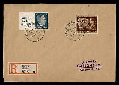 Dr Who 1944 Germany Registered C21026