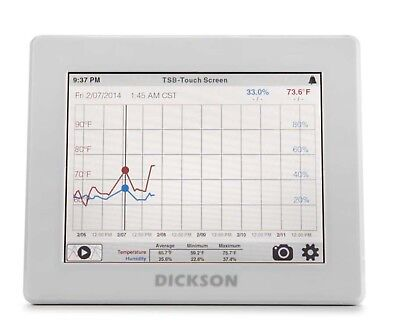 NEW Dickson DicksonOne Touchscreen Data Logger w/Probe and Accessories Tested !!