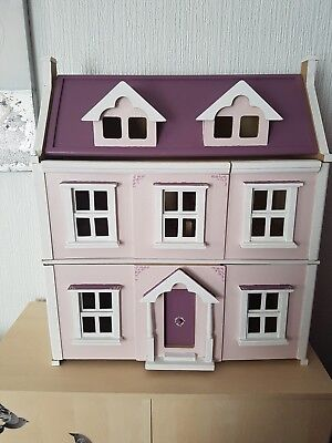 John Lewis Wooden Dolls House with some furniture & hand painting