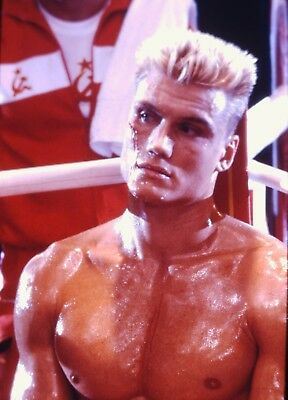 "DOLPH LUNDGREN in ""Rocky IV"" - Original Vintage 35mm Slide - 1985"