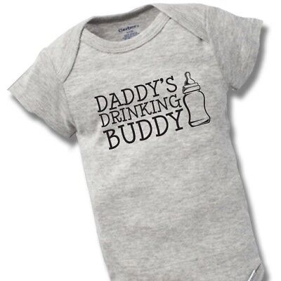 d4ac0d2d3 Daddy's Drinking Buddy Onesie Baby Gift Funny Cute Dad Father Boy Girl  Clothes