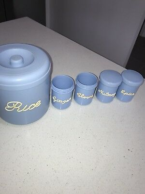 Blue Nally Ware Canisters