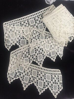 4yd 17 Inches Vintage Wide Crochet Lace Trim Edging Stunning Lot