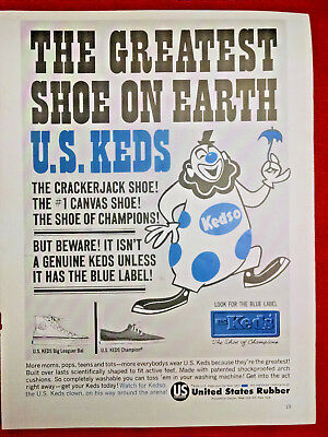 1963 vintage ad US KEDS Shoes from US Rubber Co-The Cracker Jack Shoe-#1 Canvas