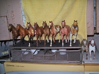 Breyer Paddock Pal/Little Bit Thoroughbred Stallion lot of 11 - bay, appy, paint