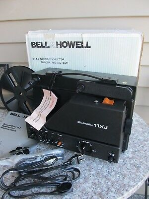 Bell & Howell 11 XJ Super 8mm Sound Movie Film Projector With Box