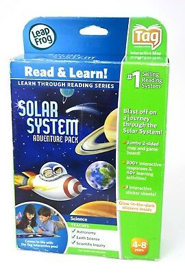 Leap Frog TAG Reader Solar System Adventure Pack Interactive Map & Glow Stickers