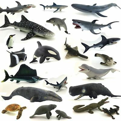 Realistic Sea Animal Marine Animal Solid Model Children's Puzzle Educational Toy