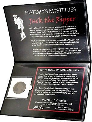 History's Mysteries:Jack the Ripper Coin of Whitechapel Area Album & Certificate