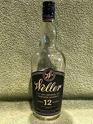 "W.L. Weller 12 Year Old Bourbon ""Empty"" Bottle-Scarce Collector's Item-Pappy"