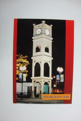 141) Sturgeon Bay Wisconsin The Nighttime Clock Tower County Seat Of Door County