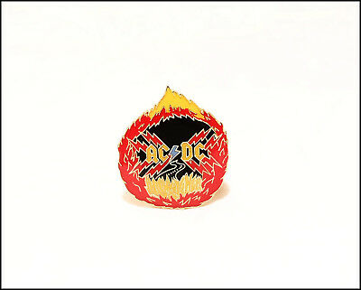 AC/DC Vintage 80's Enamel Pin Pinback Badge Highway To Hell  Angus Young