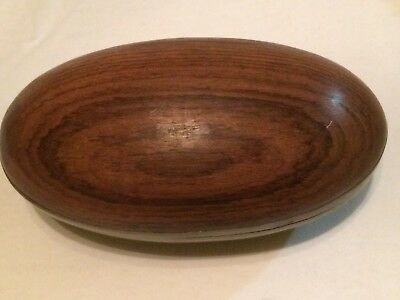 Vintage Oval OAK MAHOGANY WALNUT WOOD Egg Bowl