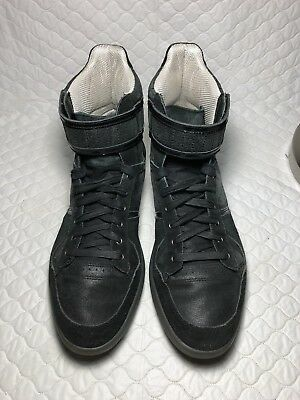 fe5285e1b96 PUMA MEN S RUDOLF Dassler Schuhfabrik Black High Top Sneakers Shoes Size-8