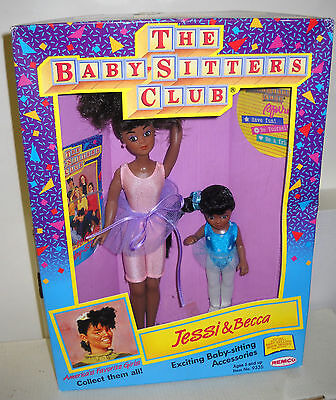 #6116 NRFB Vintage Remco Babysitters Club Jessi & Becca African American Dolls
