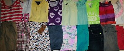 Girls Size 12 &  12-14 Spring/Summer Clothes Lot Of 18 Pieces