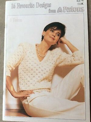 Vintage Patons Knitting Book 778 16 Favourite Designs from Patons