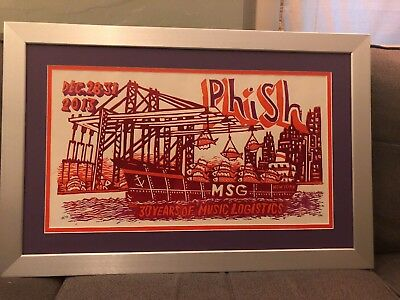 Phish 2013 Pollock 13 Msg 30 Year Anniversary Professionally Framed