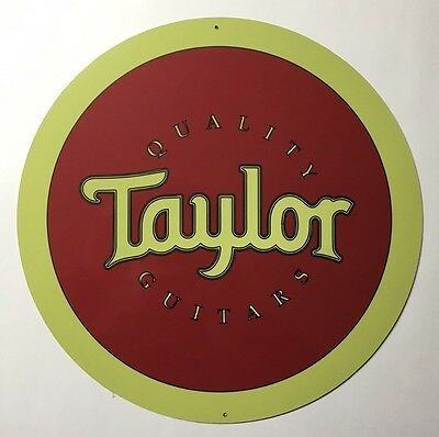Taylor Guitar 12 inch Round Metal Sign